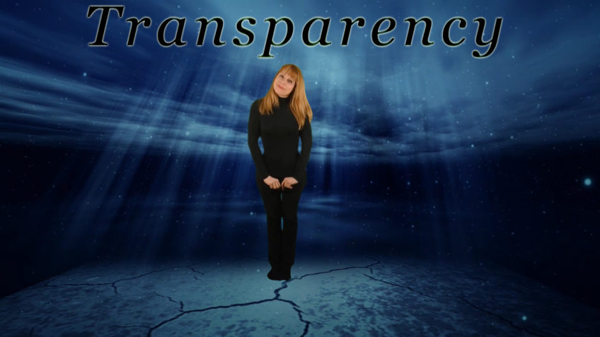 Let's Begin with Acceptance and Transparency.